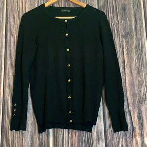 Black cardigan silver buttons Zara knit